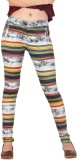 Inddus Women's White, Yellow Jeggings