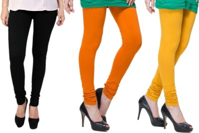 Lienz Women's Black, Orange, Yellow Leggings