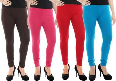 Paulzi Women's Brown, Pink, Red, Blue Leggings