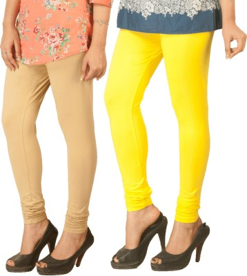 Berries Women's Beige, Yellow Leggings