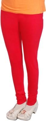 Radhika Garments Women's Red Leggings