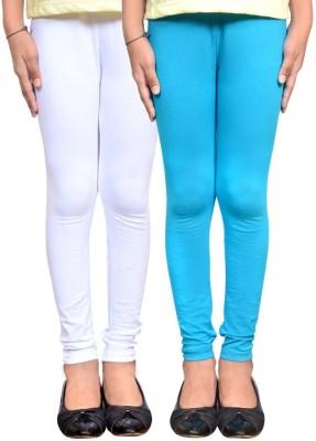 divine creations Women,s White, Blue Leggings