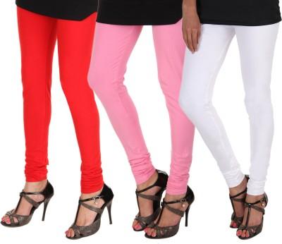 Itnol International Women's Red, Pink, White Leggings