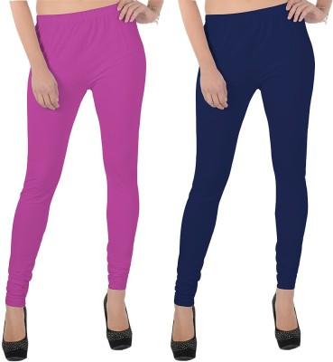 X-Cross Women's Pink, Dark Blue Leggings