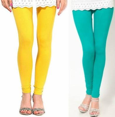 Paranoid Women's Light Blue, Yellow Leggings