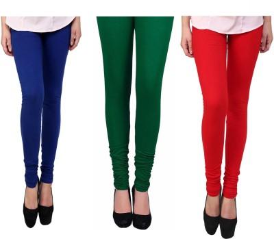 Vastra Buzz Women's Red, Green, Dark Blue Leggings