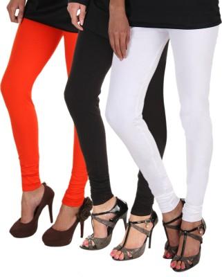Itnol International Women's Orange, Black, White Leggings