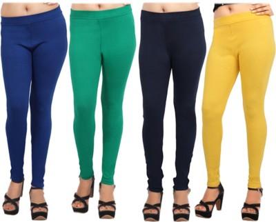 Comix Women's Blue, Green, Dark Blue, Yellow Leggings