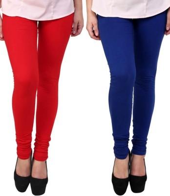 KANNAN Women's Red, Dark Blue Leggings