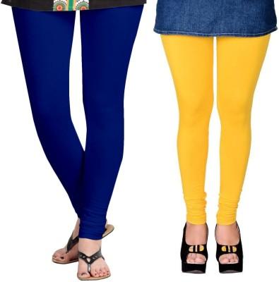 ZACHARIAS Women's Blue, Yellow Leggings