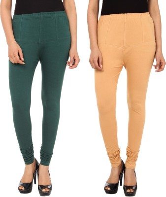 Gudluk Women's Green, Beige Leggings