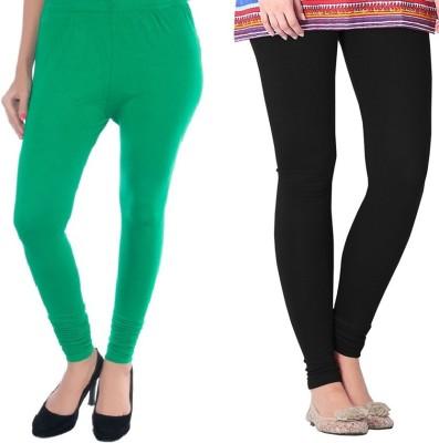 Colors More Women's Green, Black Leggings