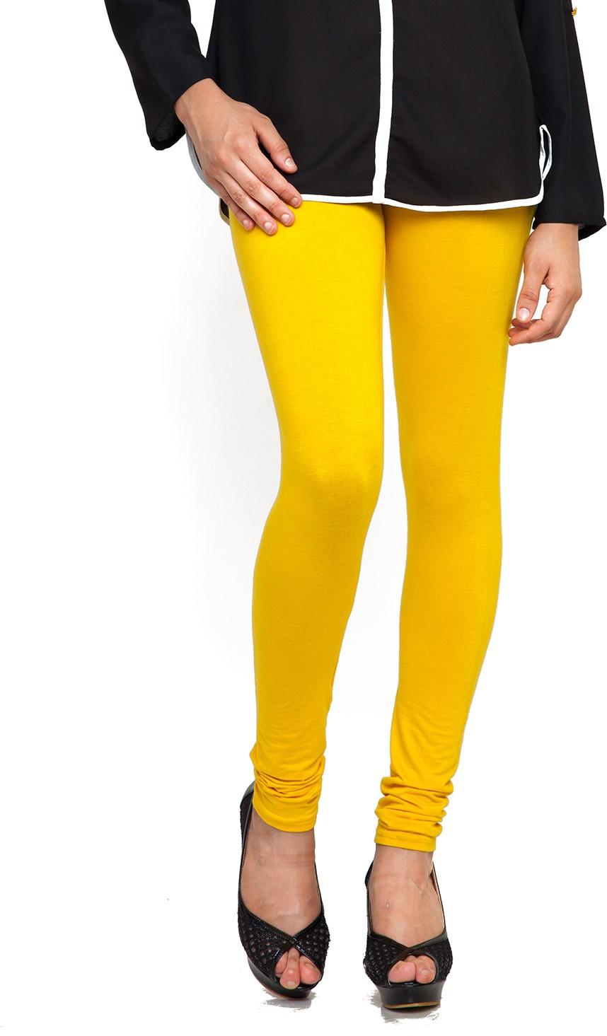 Bulbul Womens Yellow Leggings