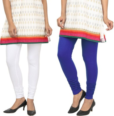 Agrima Fashion Women's White, Blue Leggings