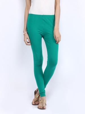 shree Women's Light Green Leggings