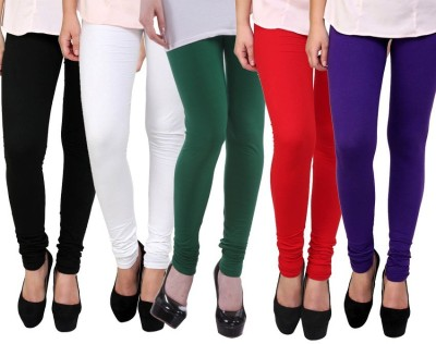 Myra Softwear Women's Black, White, Green, Red, Purple Leggings