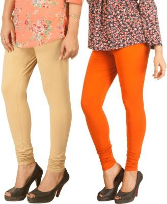 Berries Women's Beige, Orange Leggings
