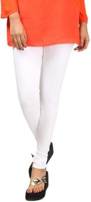 HAPPYSHOPP Women's White Leggings