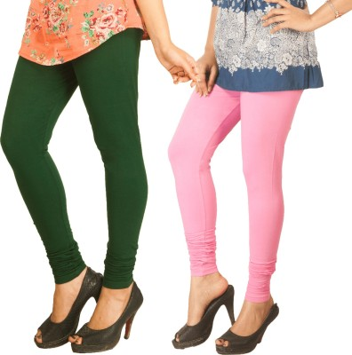 Berries Women's Dark Green, Pink Leggings