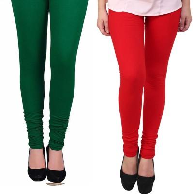 Vastra Buzz Women's Red, Green Leggings