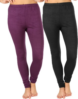 SLS Women's Purple, Black Leggings