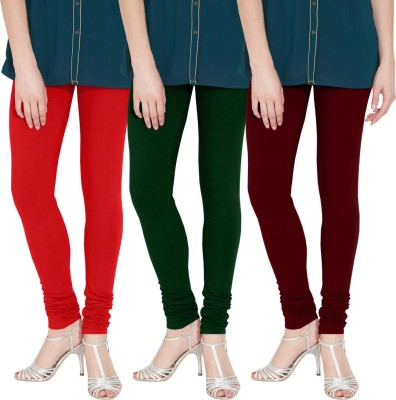 Nicewear Women's Red, Green, Brown Leggings