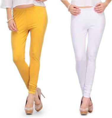 Body Size Women's White, Yellow Leggings