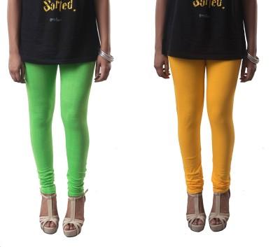 amie Women's Yellow, Green Leggings
