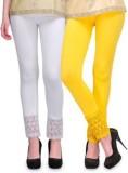 kamalgarments Women's White, Yellow Legg...