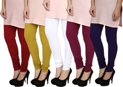 Fizzaro Women's Red, Green, White, Blue, Purple Leggings