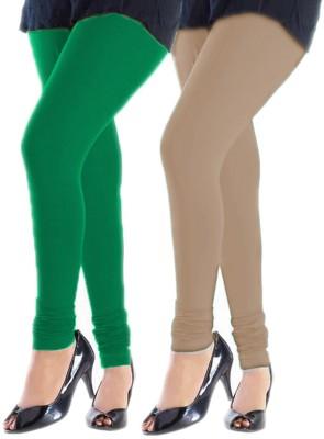 Trusha Dresses Women's Green, Beige Leggings