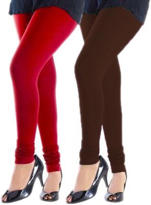 Trusha Dresses Women's Red, Brown Leggings