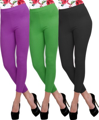 Carrol Women's Purple, Green, Black Leggings