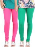Be-Style Women's Pink, Green Leggings (P...