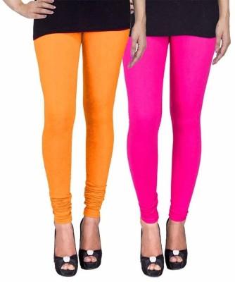 Ayesha Fashion Women's Yellow, Pink Leggings