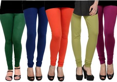 Kjaggs Women's Orange, Blue, Dark Green, Green, Pink Leggings