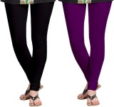 Zacharias Women's Black, Purple Leggings...