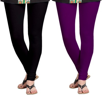 ZACHARIAS Women's Black, Purple Leggings