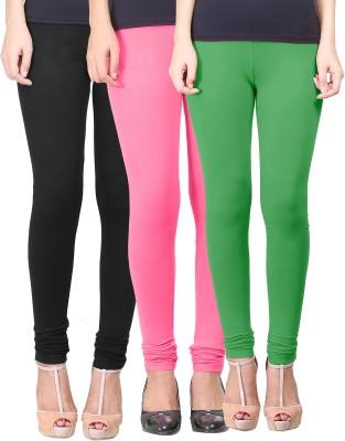 Eshelle Women's Black, Pink, Light Green Leggings