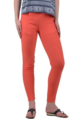 American-Elm Women's Orange Jeggings