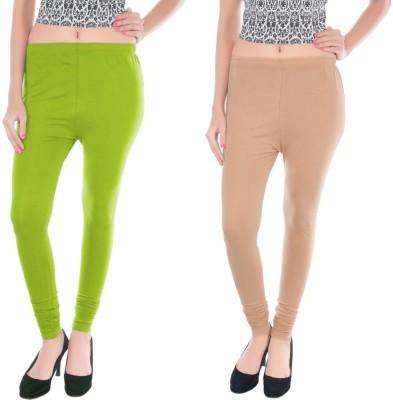 Colors More Women's Beige, Light Green Leggings