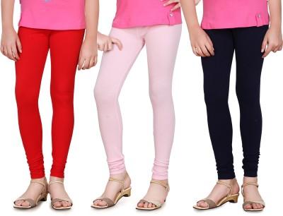 Sini Mini Girl's Red, Pink, Blue Leggings