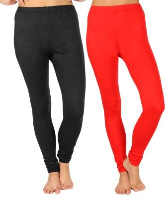 SLS Women's Black, Red Leggings