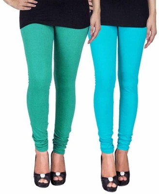 Ayesha Fashion Women's Green, Blue Leggings