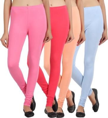 Sewn Women's Light Blue, Pink, Beige, Pink Leggings