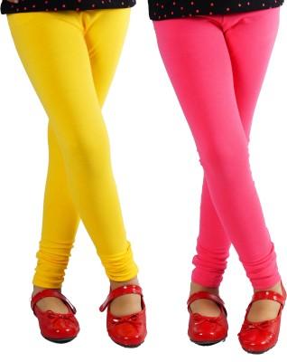 Naughty Ninos Girl's Yellow, Pink Leggings