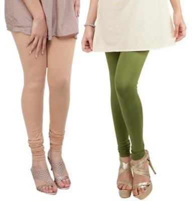 Bembee Women's Beige, Dark Green Leggings