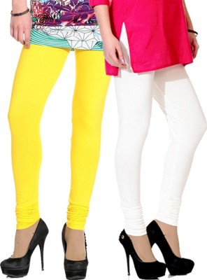NGT Women's Yellow, White Leggings