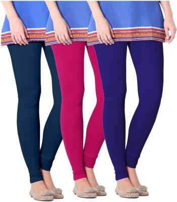 Nice Fit Women's Maroon, Dark Blue, Purple Leggings