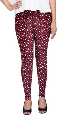 Claura Girl's Red Leggings